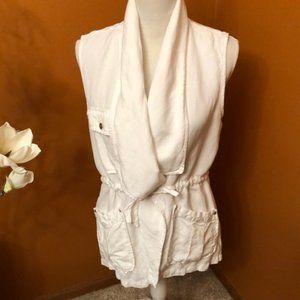 Sanctuary white vest jacket. Sleeveless.